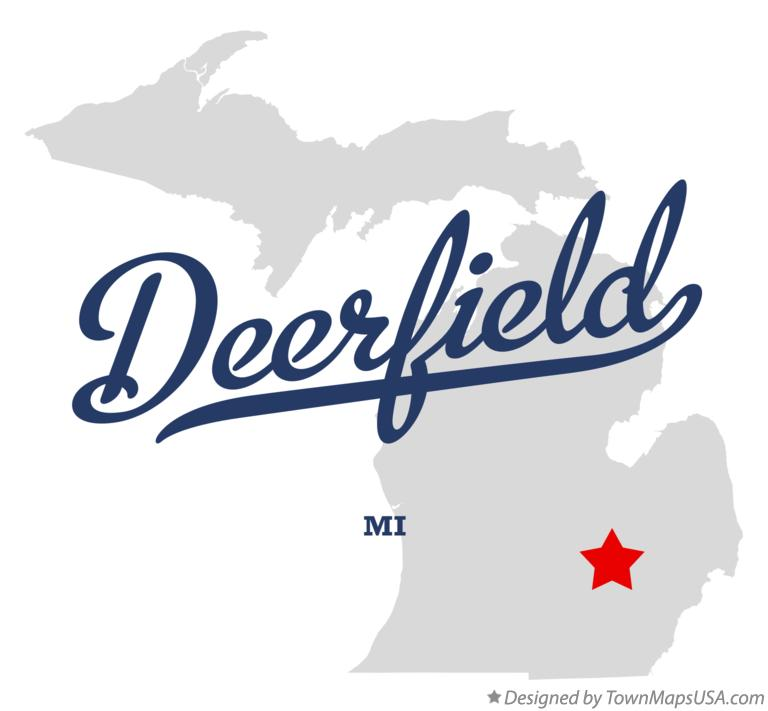 Map of Deerfield Michigan MI