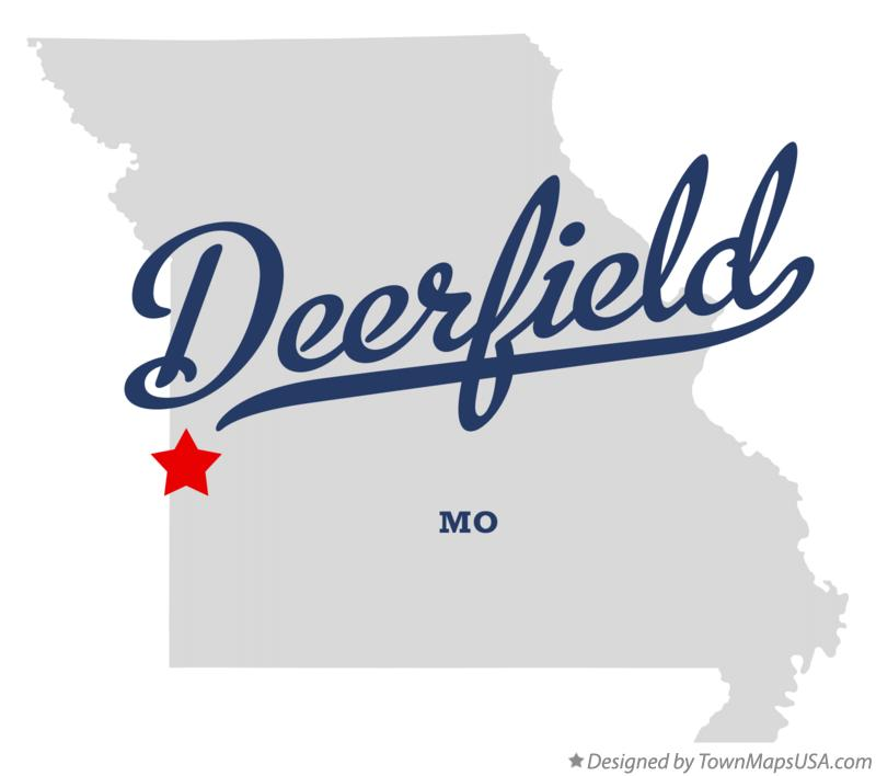 Map of Deerfield Missouri MO