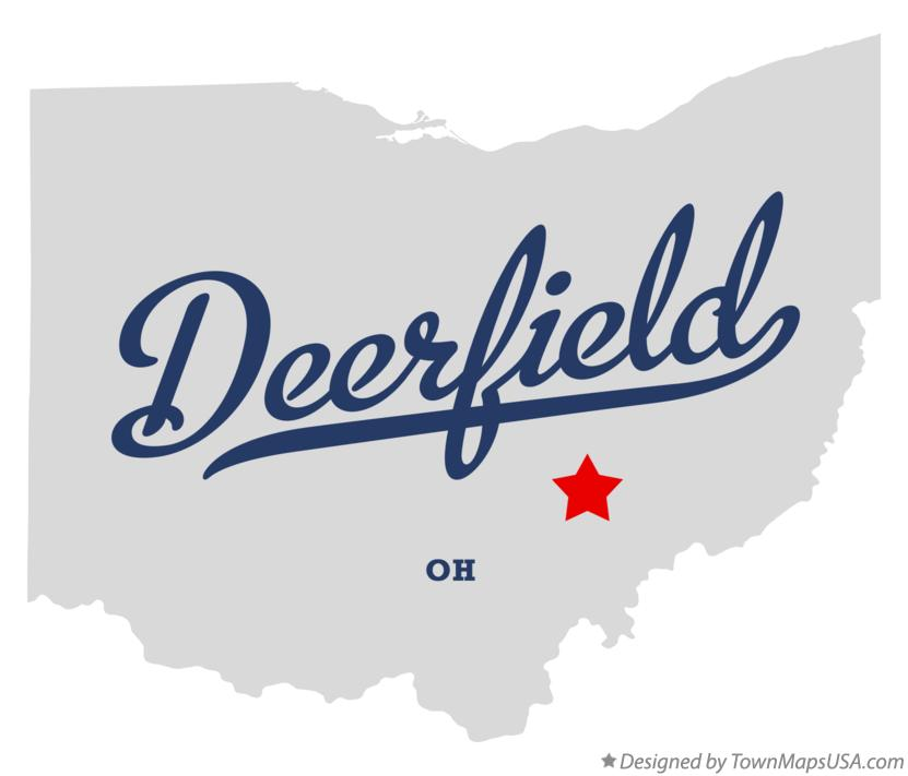 Map of Deerfield Ohio OH