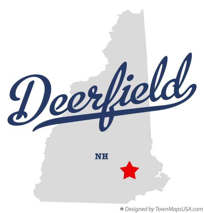 Map of Deerfield New Hampshire NH