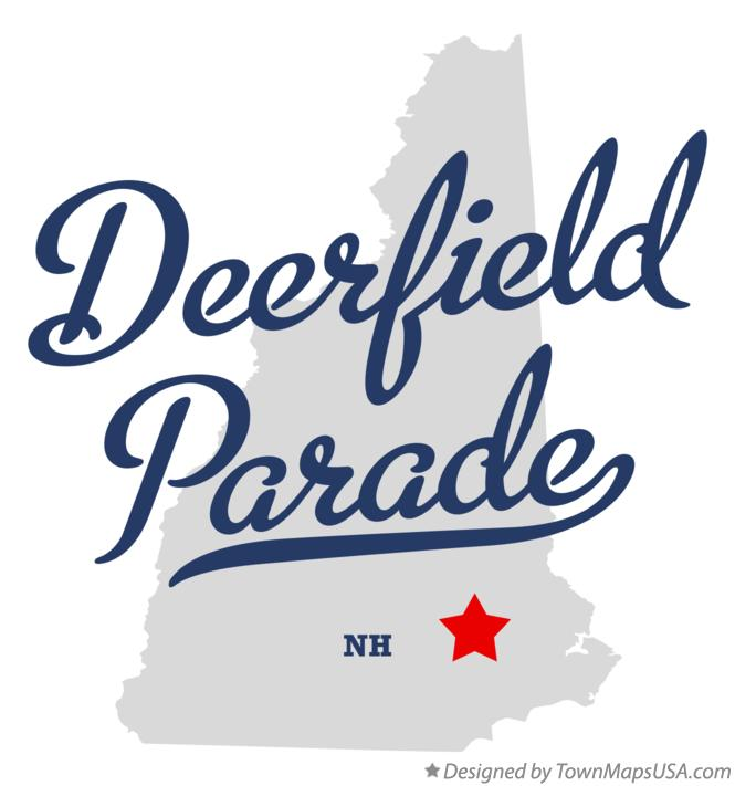 Map of Deerfield Parade New Hampshire NH