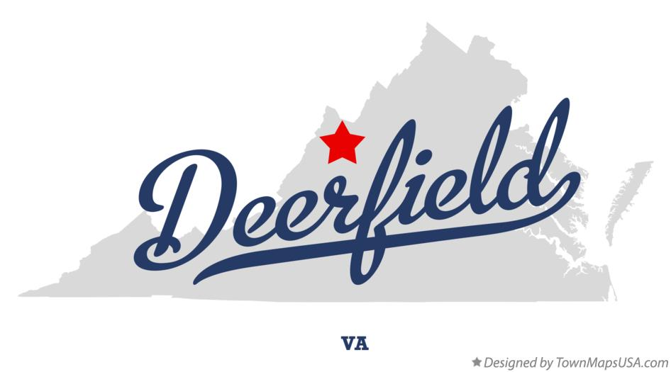 Map of Deerfield Virginia VA