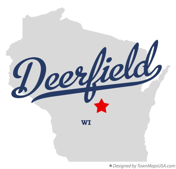 Map of Deerfield Wisconsin WI