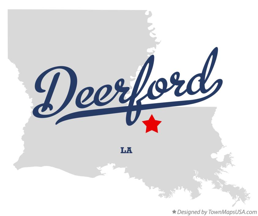 Map of Deerford Louisiana LA