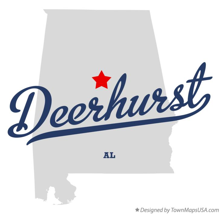 Map of Deerhurst Alabama AL