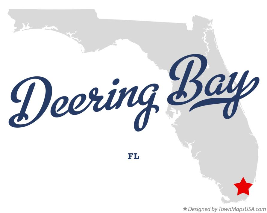 Map of Deering Bay Florida FL
