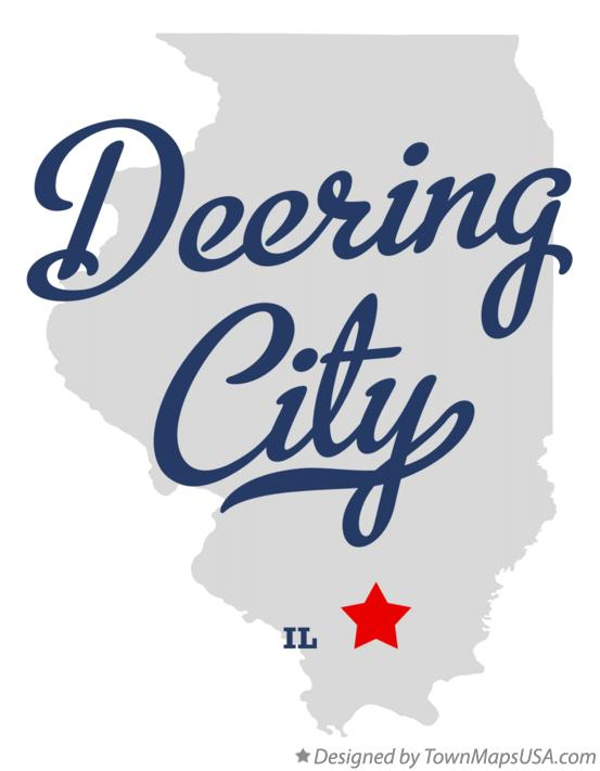 Map of Deering City Illinois IL