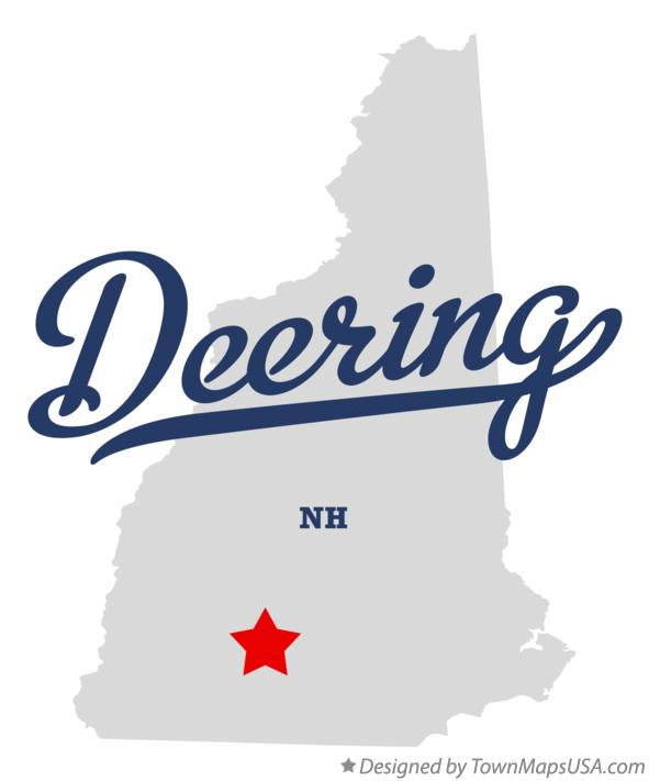 Map of Deering New Hampshire NH