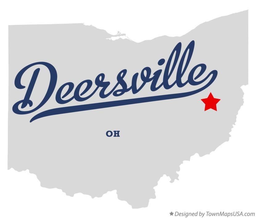 Map of Deersville Ohio OH