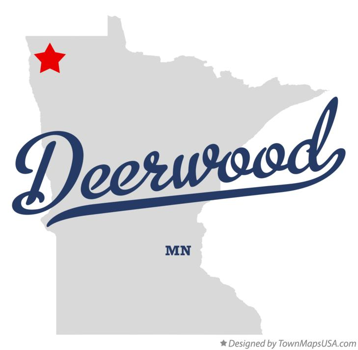 Map of Deerwood Minnesota MN