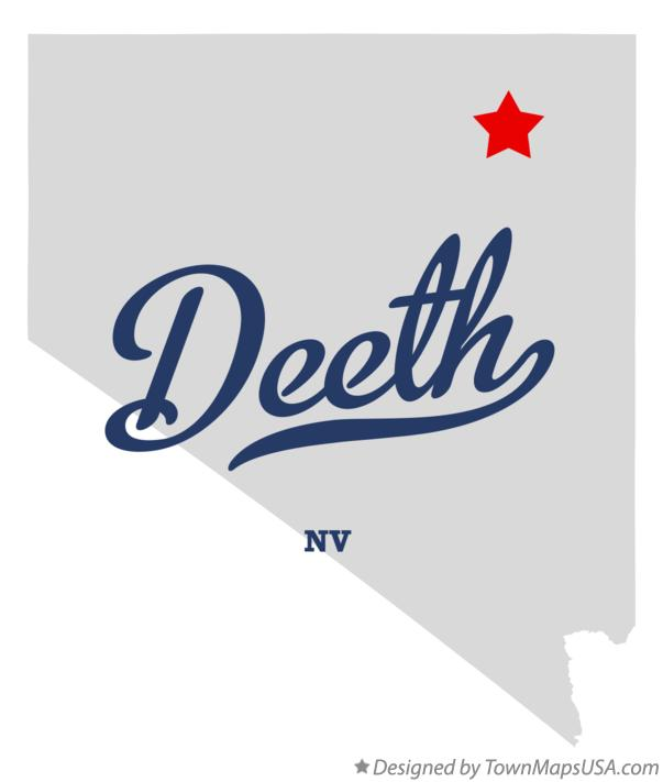Map of Deeth Nevada NV