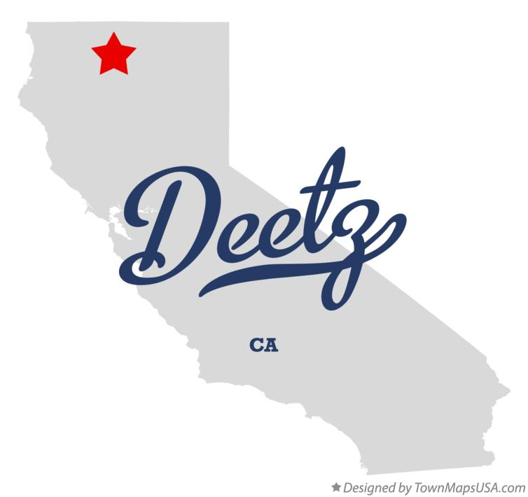 Map of Deetz California CA
