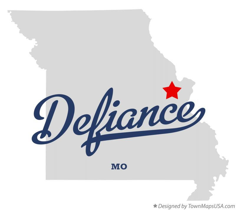 Map of Defiance Missouri MO