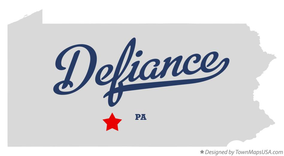 Map of Defiance Pennsylvania PA