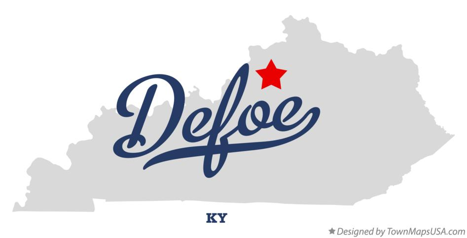 Map of Defoe Kentucky KY