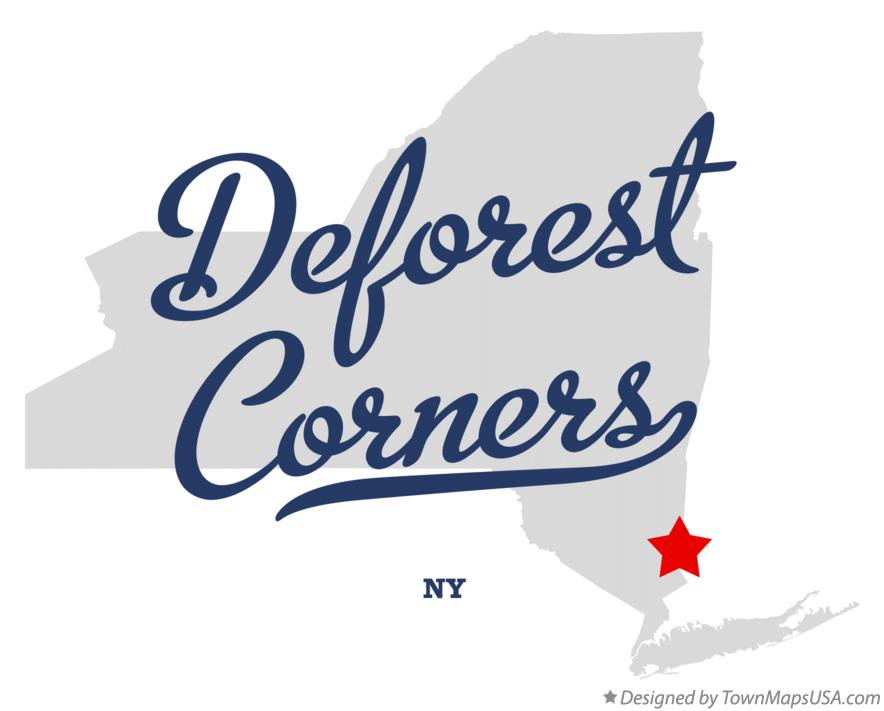 Map of Deforest Corners New York NY