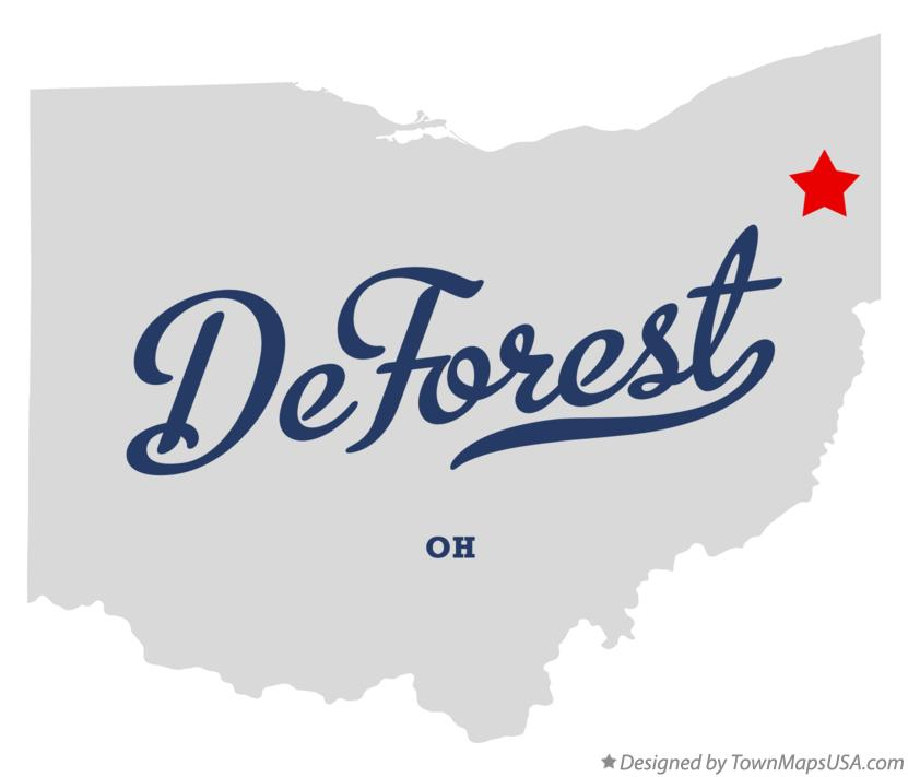 Map of DeForest Ohio OH
