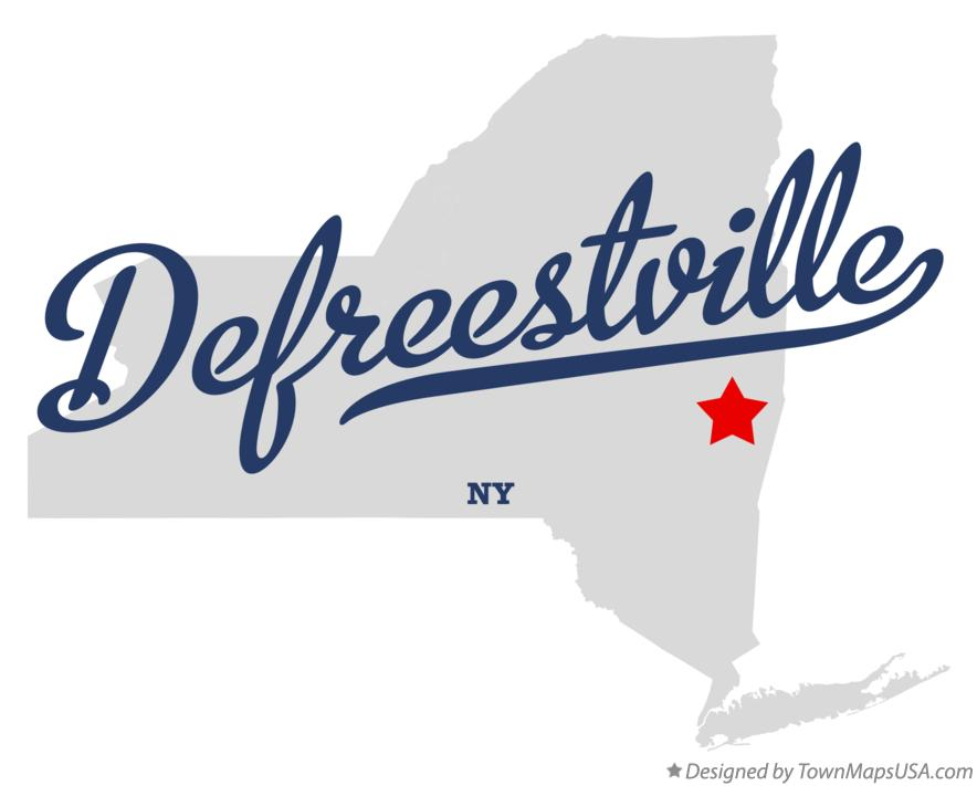 Map of Defreestville New York NY