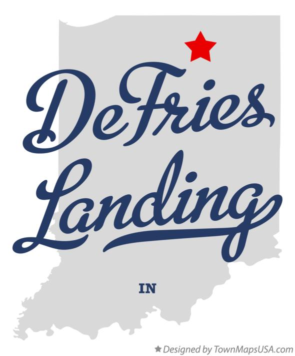 Map of DeFries Landing Indiana IN