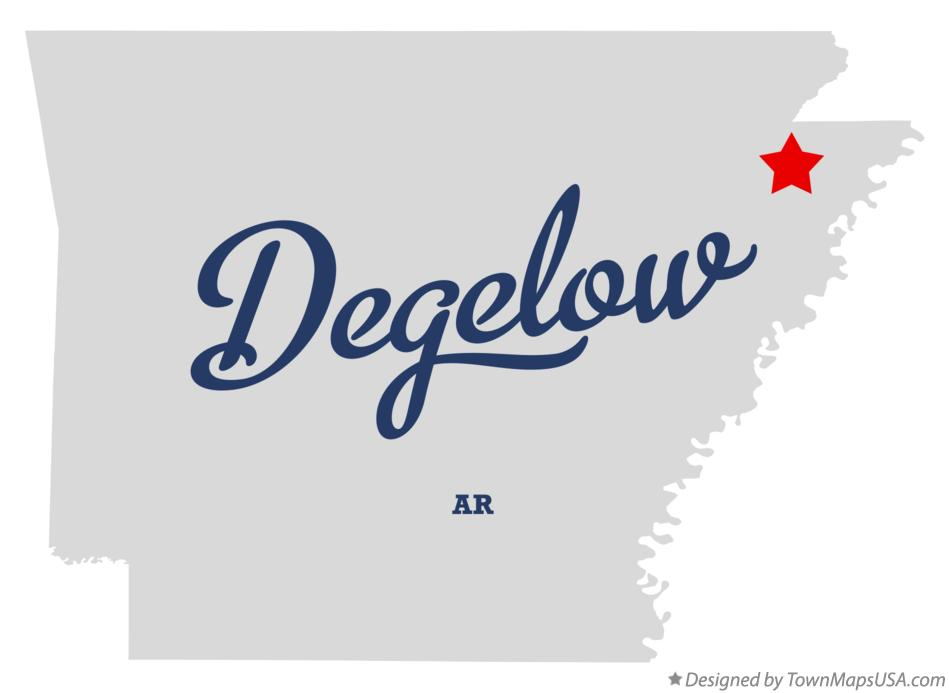 Map of Degelow Arkansas AR