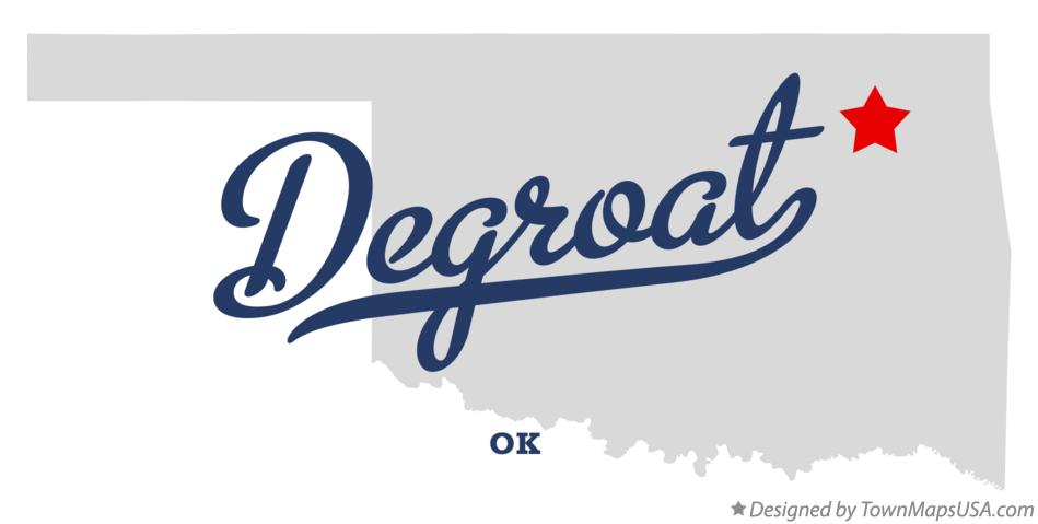 Map of Degroat Oklahoma OK