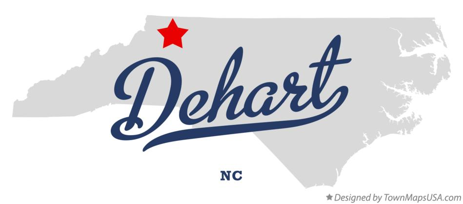 Map of Dehart North Carolina NC