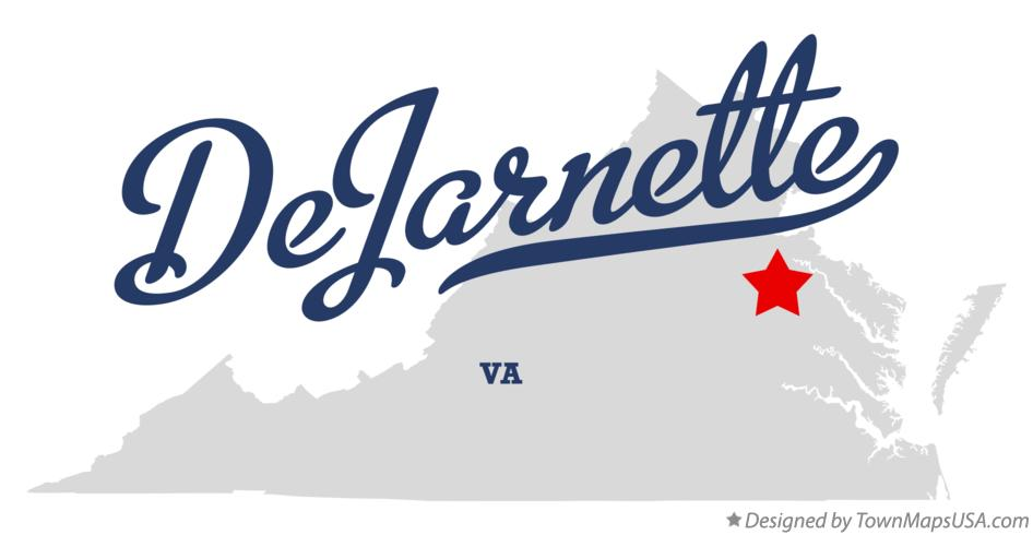 Map of DeJarnette Virginia VA
