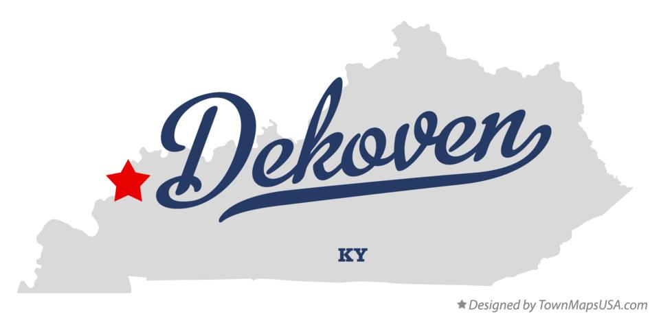 Map of Dekoven Kentucky KY