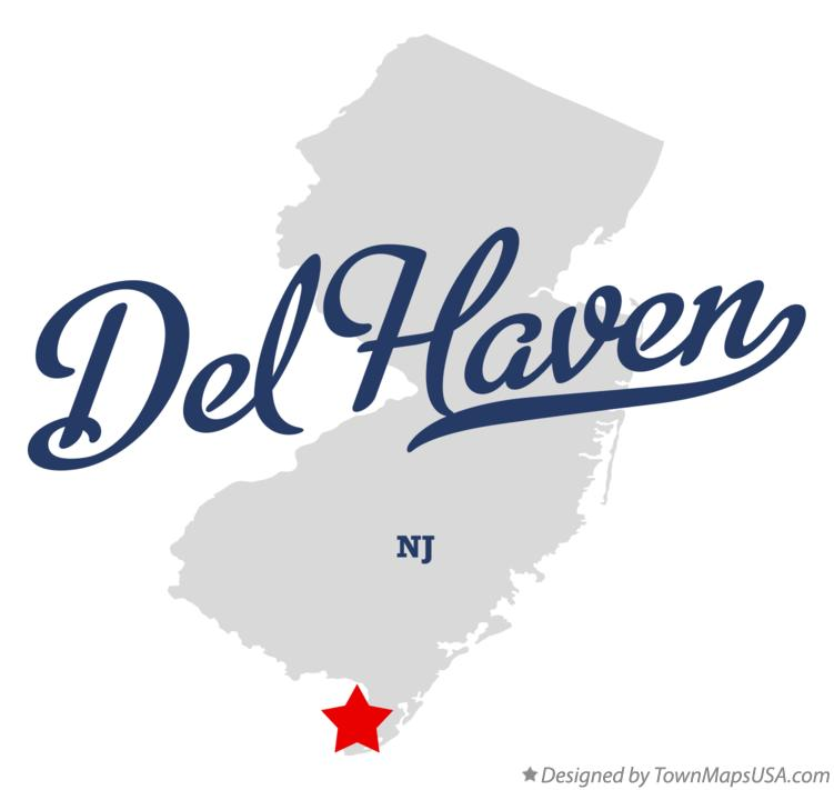 Map of Del Haven New Jersey NJ