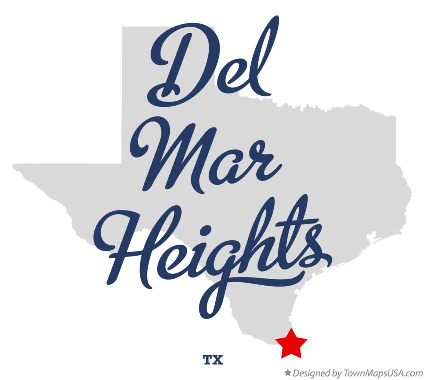 Map of Del Mar Heights Texas TX