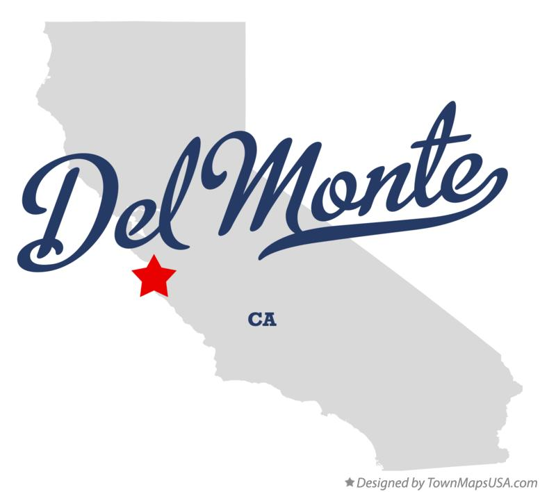 Map of Del Monte California CA
