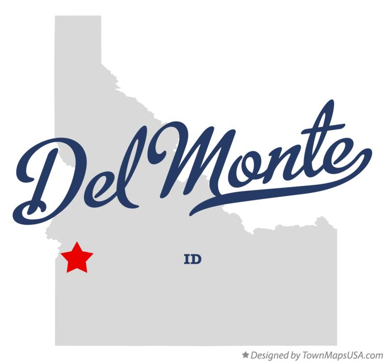 Map of Del Monte Idaho ID