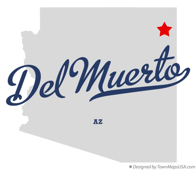 Map of Del Muerto Arizona AZ