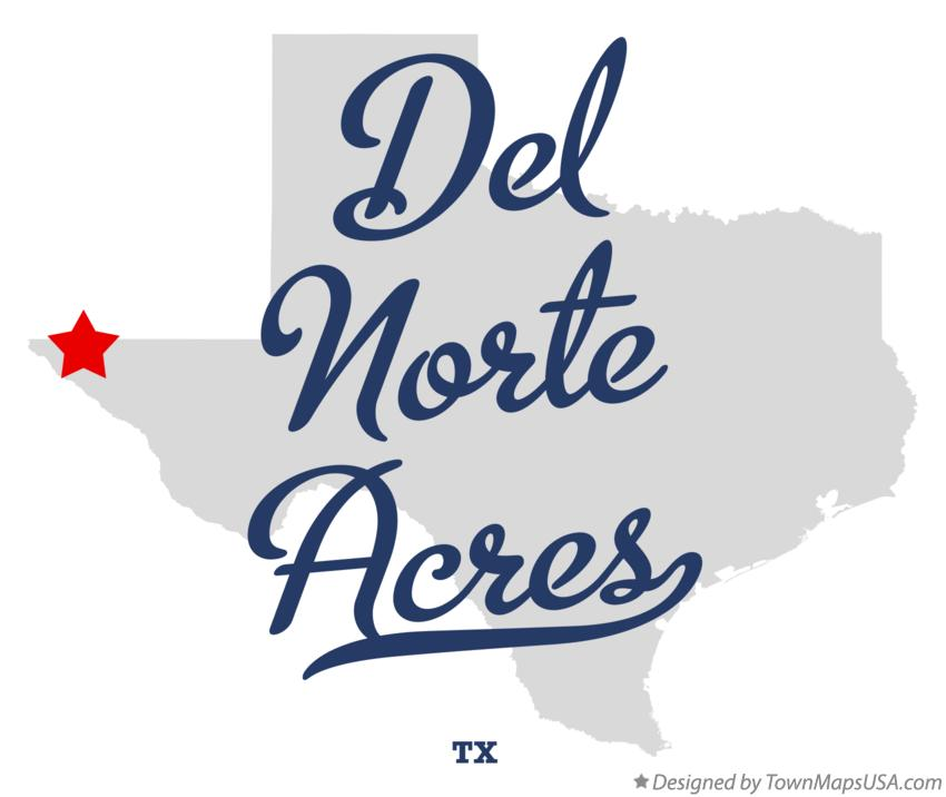 Map of Del Norte Acres Texas TX