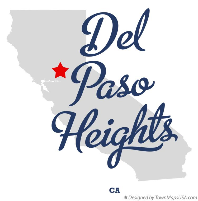 Map of Del Paso Heights California CA