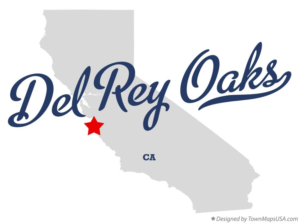 Map of Del Rey Oaks California CA