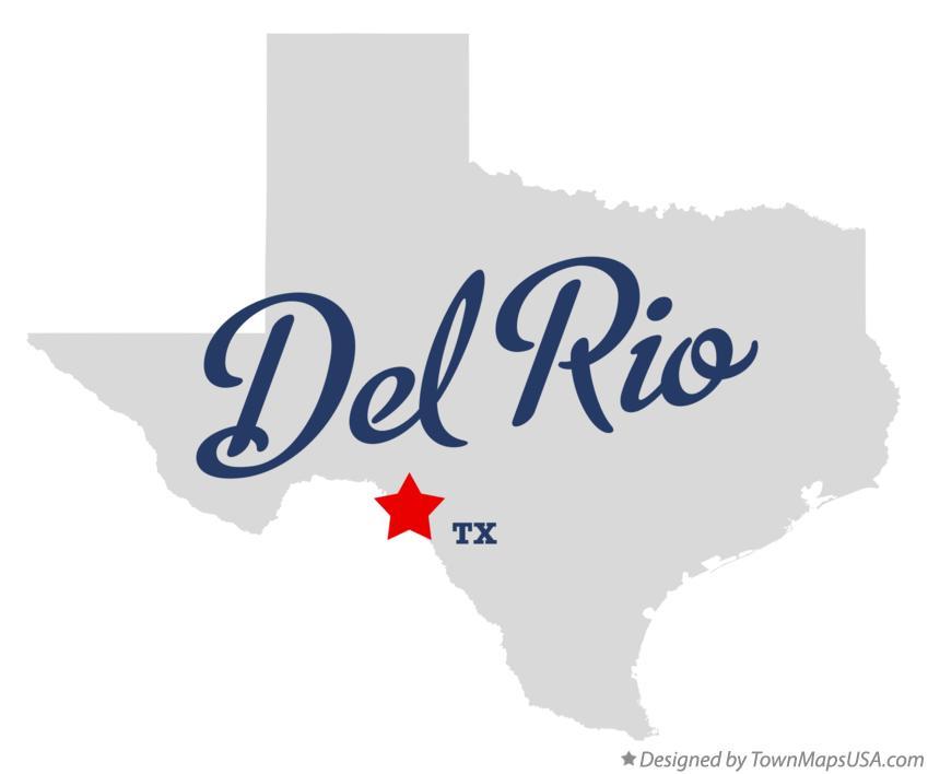 Map Of Del Rio Tx Texas