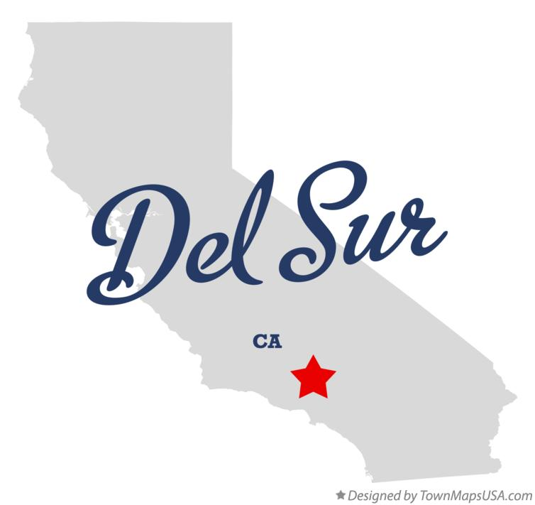 Map of Del Sur California CA