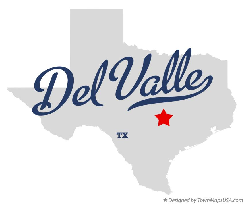 Map of Del Valle Texas TX