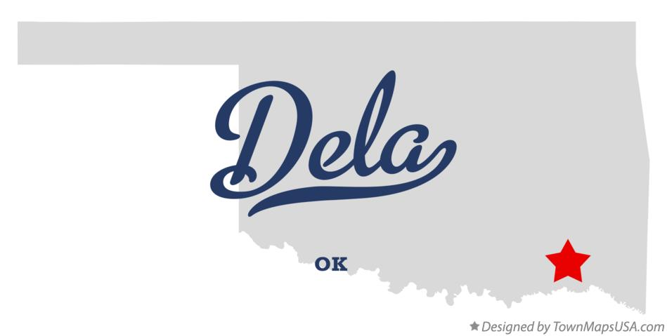 Map of Dela Oklahoma OK