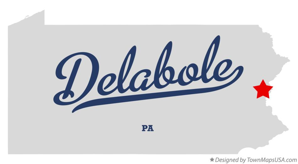 Map of Delabole Pennsylvania PA