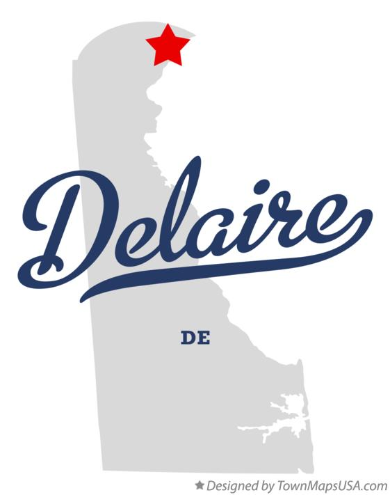 Map of Delaire Delaware DE