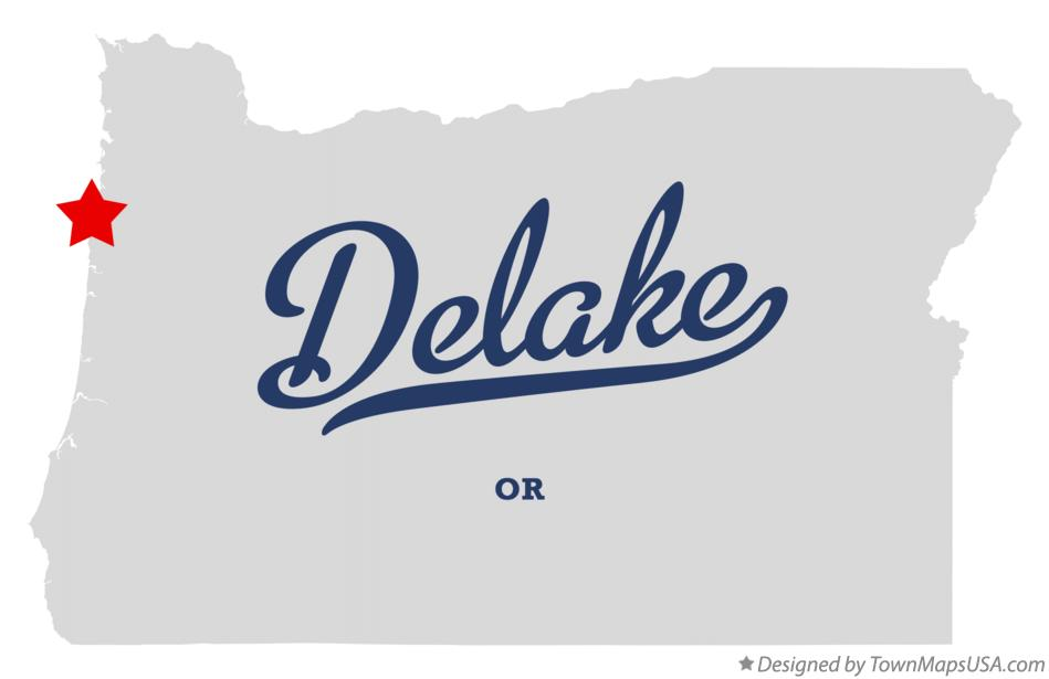 Map of Delake Oregon OR