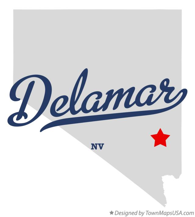 Map of Delamar Nevada NV