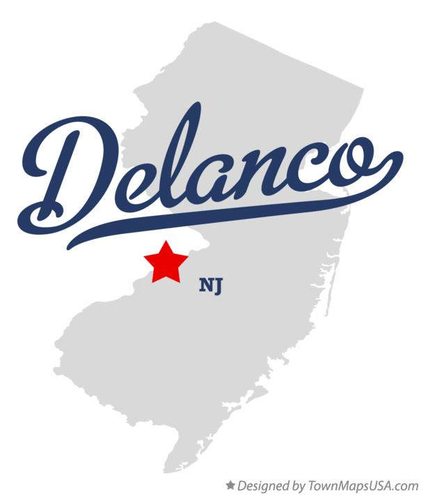 Map of Delanco New Jersey NJ