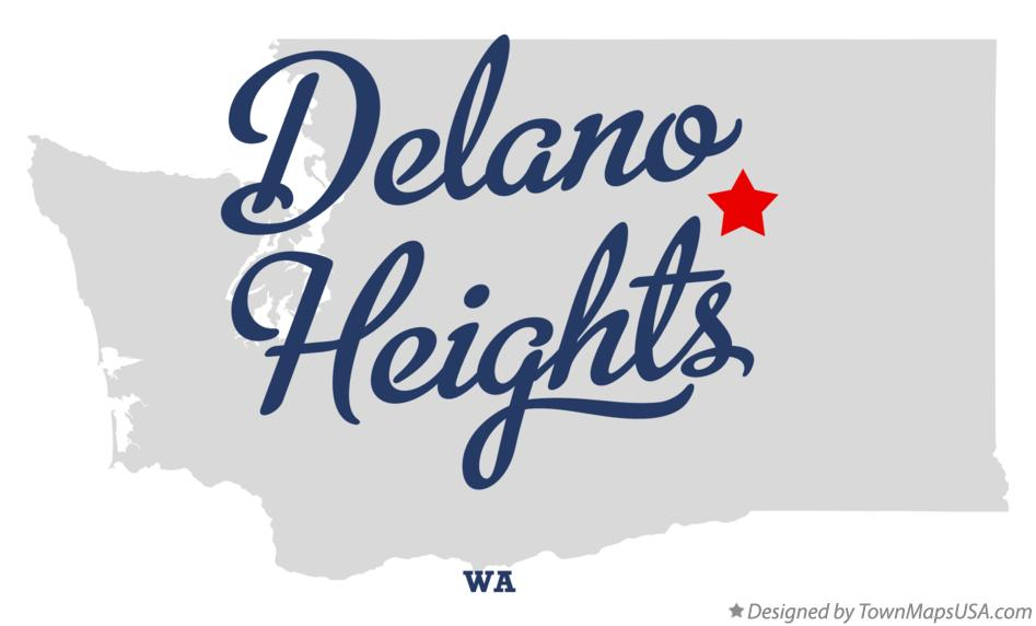 Map of Delano Heights Washington WA