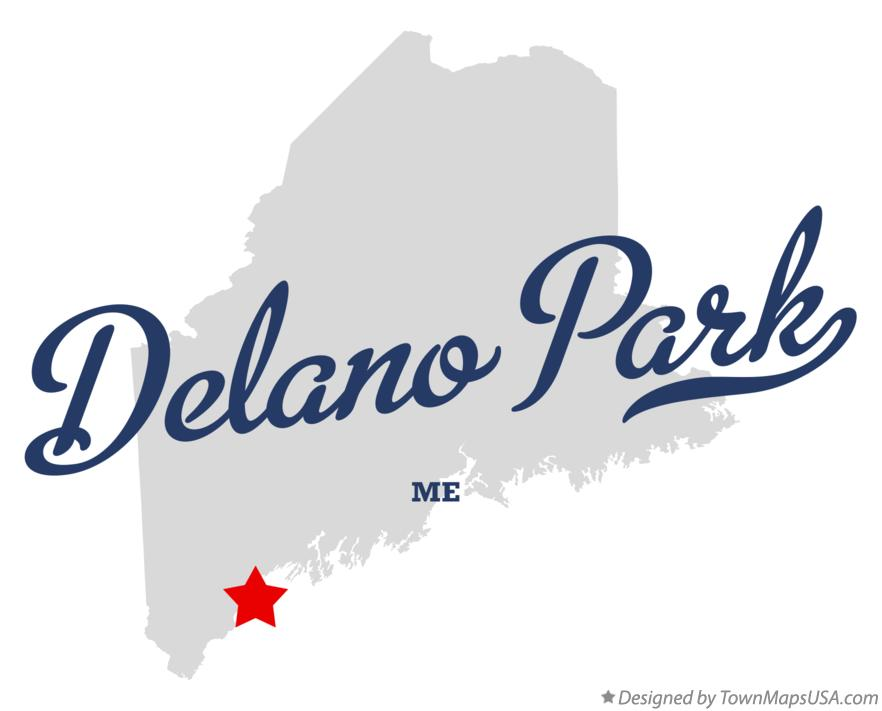 Map of Delano Park Maine ME