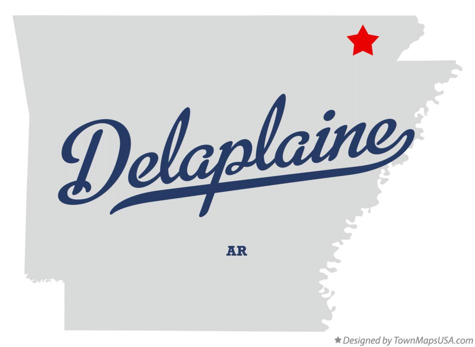 Map of Delaplaine Arkansas AR