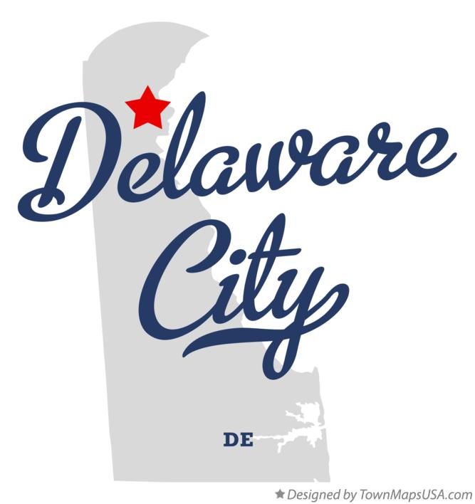 Map of Delaware City Delaware DE