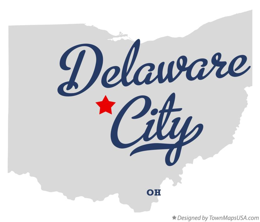 Map of Delaware City Ohio OH